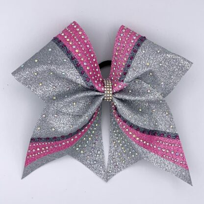 Cheerbow Allgirl Strass Glitzer rosa silber