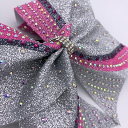 Cheerbow Bows2Cheer4 silber Glitzer